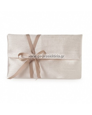 ΜΠΟΜΠΟΝΙΕΡΕΣ ΓΑΜΟΥ Φάκελος από μετάξι σαντούκ 17x10cm σε σοκολά απόχρωση ΚΩΔ.: ΓΠ1702