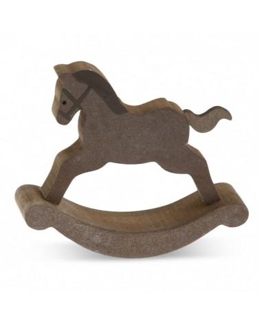 ΜΠΟΜΠΟΝΙΕΡΕΣ ΒΑΠΤΙΣΗΣ Ξύλινο αλογάκι  ΚΩΔ.:ΒΠ 17317