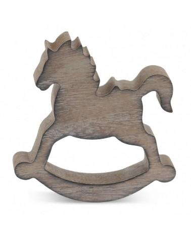 ΜΠΟΜΠΟΝΙΕΡΕΣ ΒΑΠΤΙΣΗΣ Ξύλινο αλογάκι  ΚΩΔ.:ΒΠ 17318