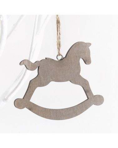 ΜΠΟΜΠΟΝΙΕΡΕΣ ΒΑΠΤΙΣΗΣ Κρεμαστό ξύλινο αλογάκι  ΚΩΔ.:ΒΠ 17319