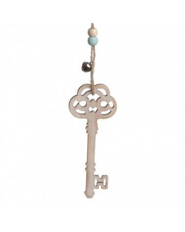 ΜΠΟΜΠΟΝΙΕΡΕΣ ΒΑΠΤΙΣΗΣ Κρεμαστό ξύλινο κλειδί   ΚΩΔ.:ΒΠ 17325