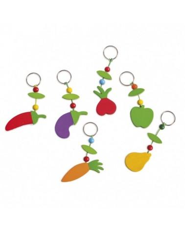 ΜΠΡΕΛΟΚ ΒΑΠΤΙΣΗΣ  Ξύλινα Φρούτα μπρελόκ  ΚΩΔ.: ΜΠ17029