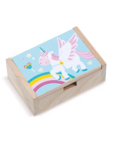 ΜΠΟΜΠΟΝΙΕΡΕΣ ΒΑΠΤΙΣΗΣ  Ξύλινο κουτί Μονόκερος ΚΩΔ.:LN890