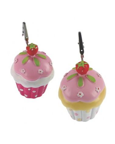 Μπομπονιέρα Βάπτισης Cupcake Κλιπ (σετ των 2) / 22030