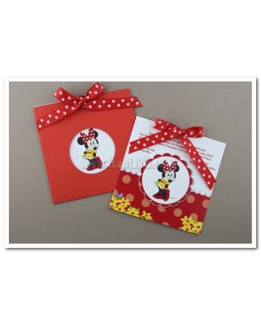 ΠΡΟΣΚΛΗΤΗΡΙΑ ΒΑΠΤΙΣΗΣ Minnie Mouse 1517 – Νο69