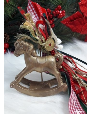 Χριστουγεννιάτικο Διακοσμητικό Κουνιστό Αλογάκι κωδ.:202171