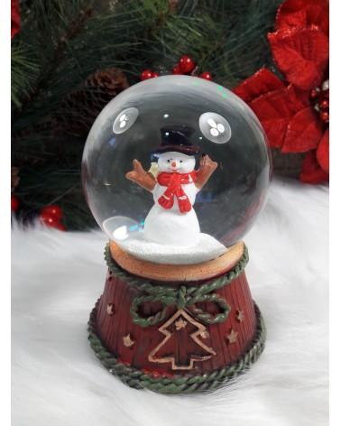 Χριστουγεννιάτικη Χιονόμπαλα με χιονάνθρωπο και μουσική ΚΩΔ.: 202174