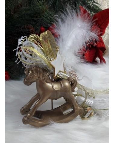 Χριστουγεννιάτικο Διακοσμητικό Κουνιστό Αλογάκι κωδ.:202175