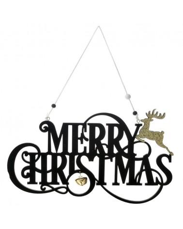 ΞΥΛΙΝΟ MERRY CHRISTMAS ΜΑΥΡΟ 32Χ18,5ΕΚ  Κωδ.: 72609